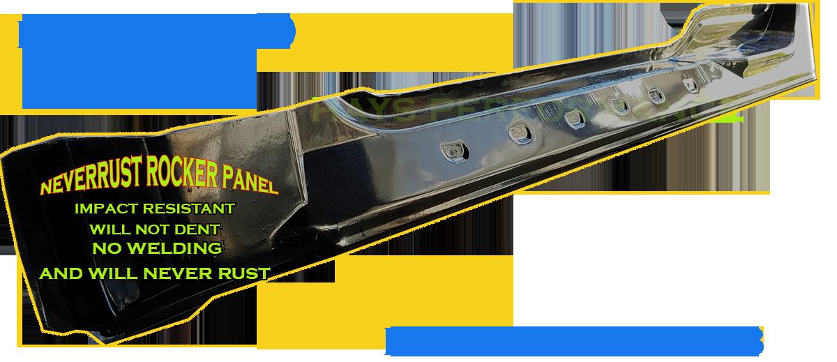 1998 - 2003 Neverrust F150 Extended Cab Rocker Panel Set